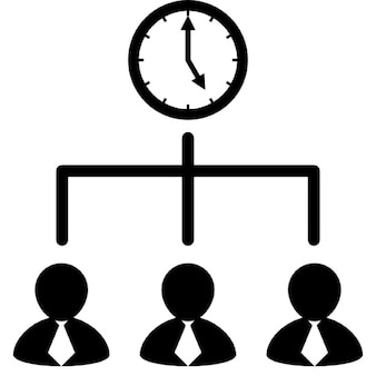 Businessmen team working with time