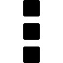 Button of three vertical squares