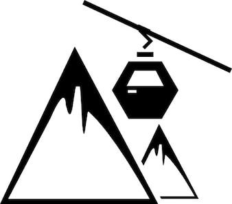 Funicolare sulla montagna