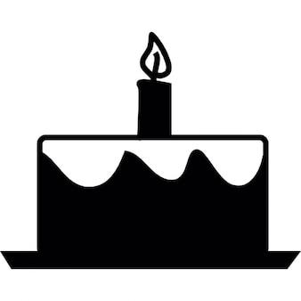 Cake, birthday, IOS 7 interface symbol