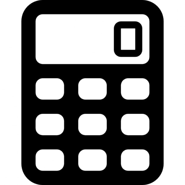 Calculator with rounded buttons
