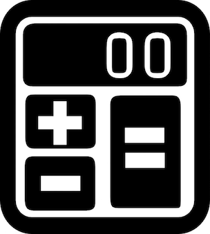 Calculator with rounded corners