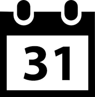 Calendar 31th vector