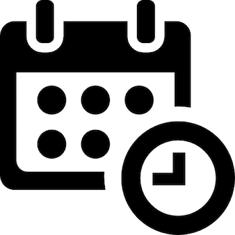Calendar and clock time administration and organization tools symbol