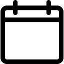 Calendar empty page outline