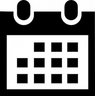 Calendar icon in black