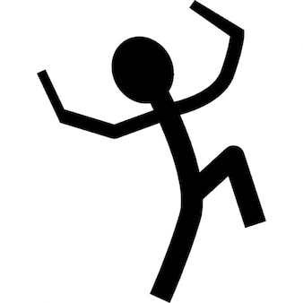 Cartoon man holding sticks
