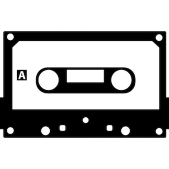 Cassette tape with black border
