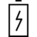 Charge battery symbol with a bolt
