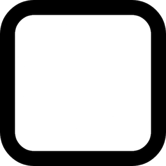 Check box empty rounded square