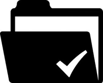 Cheked folder symbol