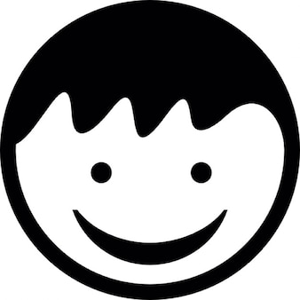 Child head with smiling face