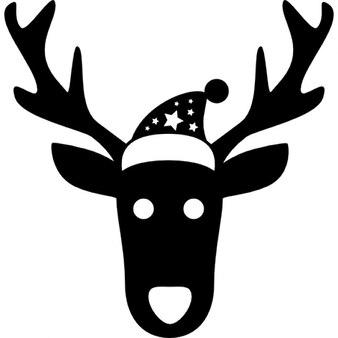Christmas reindeer frontal head