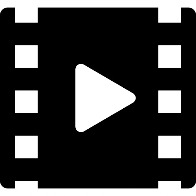 Cinema roll with play symbol