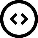 両方の側根を指す2つの矢印が付いた円形のボタン