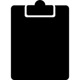 Clipboard empty in black