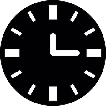 Clock black background with white details