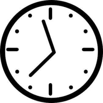Clock for wall with hours
