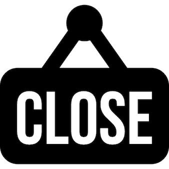 Close sign for door