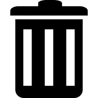 Closed waste bin
