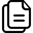 Copy two paper sheets interface symbol