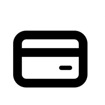 Credit card outline