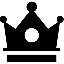 Queen chess piece black shape Icons | Free Download