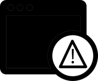 Danger caution sign on oven