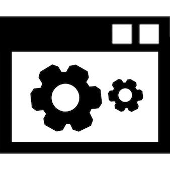 Настройки данных символов интерфейс