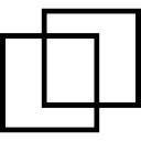 Design interface button symbol of two squares outline
