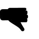 Dislike gesture of thumb down
