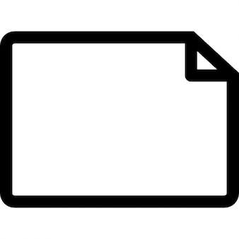 Document empty horizontal page