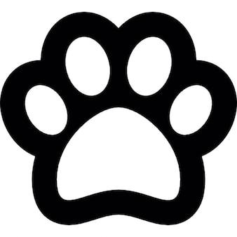 Dog footprint outline