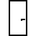 Door simple rectangular shape outlined construction part symbol