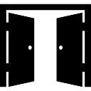 Double door opened