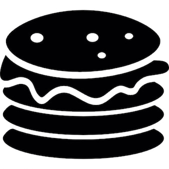 Double patty burger silhouette