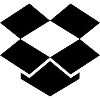 Dropbox logo black silhouette
