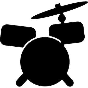 Drum set cartoon variant