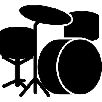 Drum set silhouette