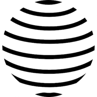 Earth globe with parallel horizontal lines pattern