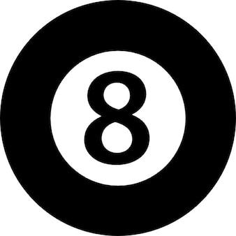 Eight ball of billiard