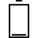 Empty big battery outlined symbol