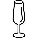 Empty Glass of Wine Outline
