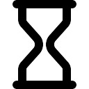 Empty sand clock outlined tool symbol
