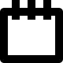 Event calendar symbol of empty page