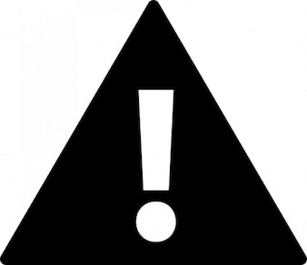 Exclamation caution triangle