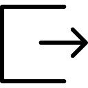 Exit right arrow