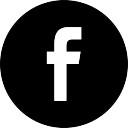 Facebook black social button circle