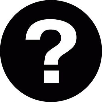 Faq circular button with question mark inside