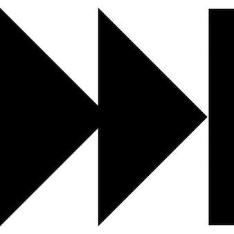 Fast forward arrows symbol